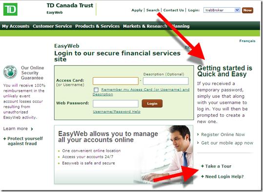 TD Bank Login - www tdbank com Online Banking | tech | Login page
