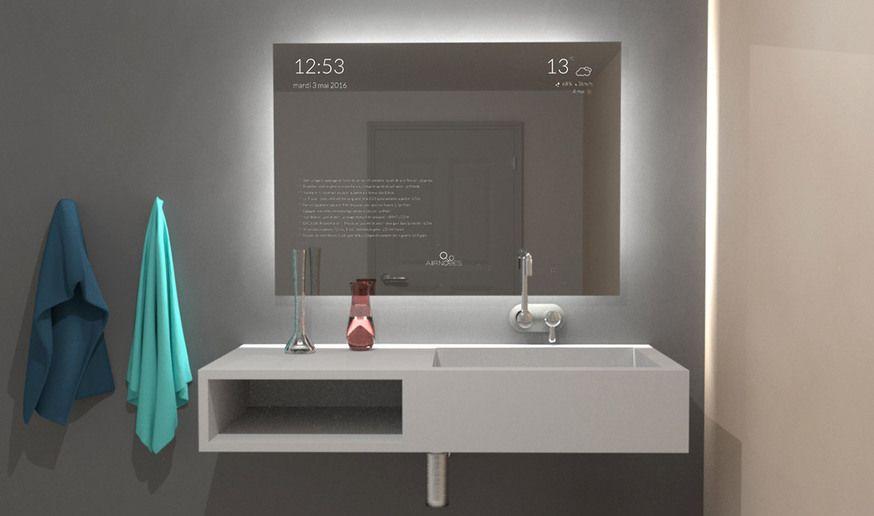 anna un miroir intelligent et futuriste - Domotique Salle De Bain