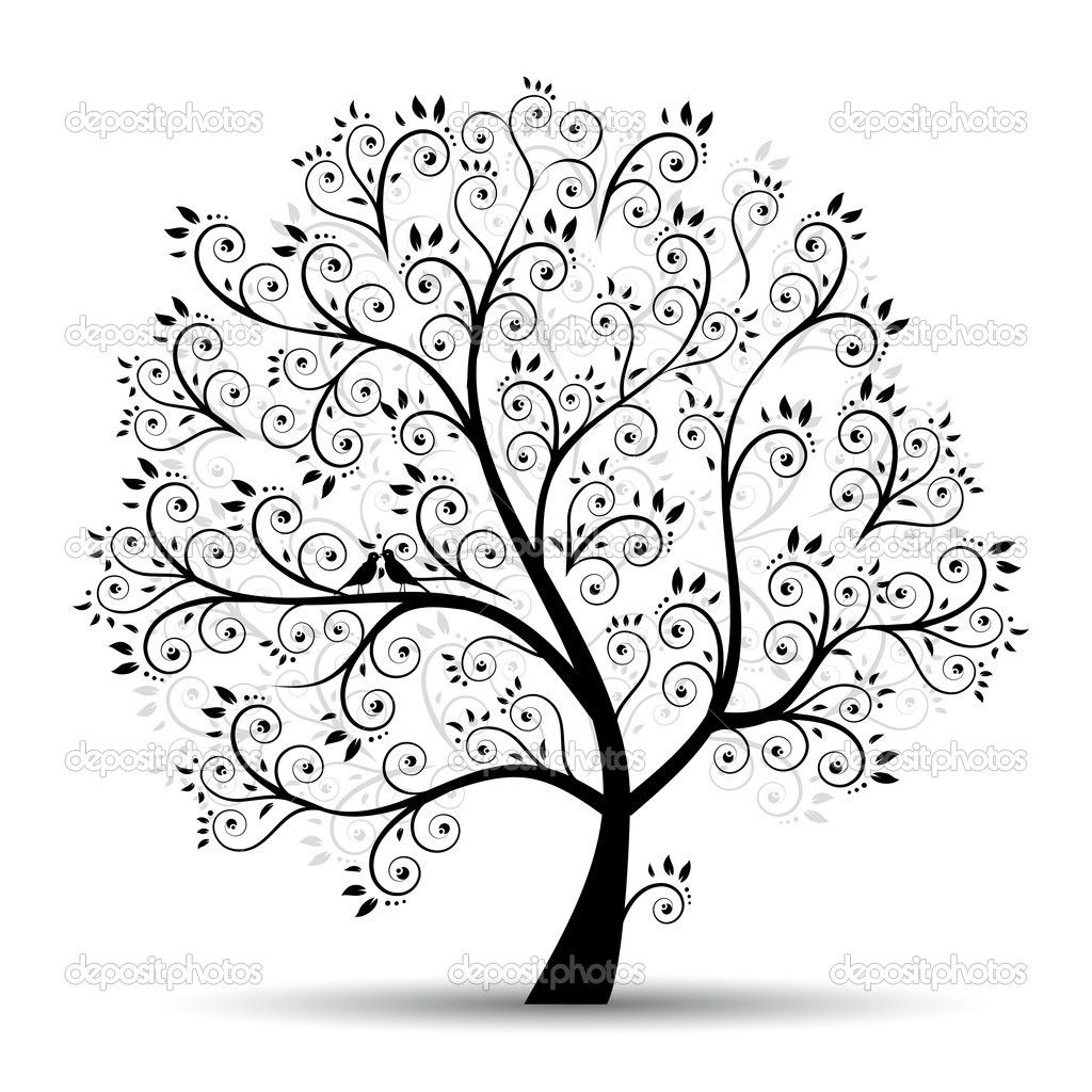 Tree branch stencil art tree beautiful black silhouette for Minimalist living a meaningful life pdf
