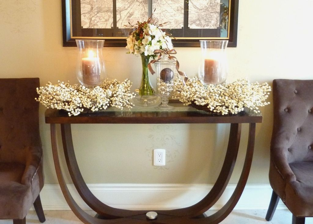 Entryway Table Decorations Decor Foyer Hall Console And Entrance