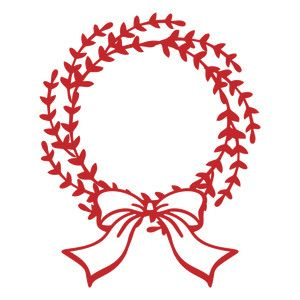 Christmas wreath silhouette. Design store view with