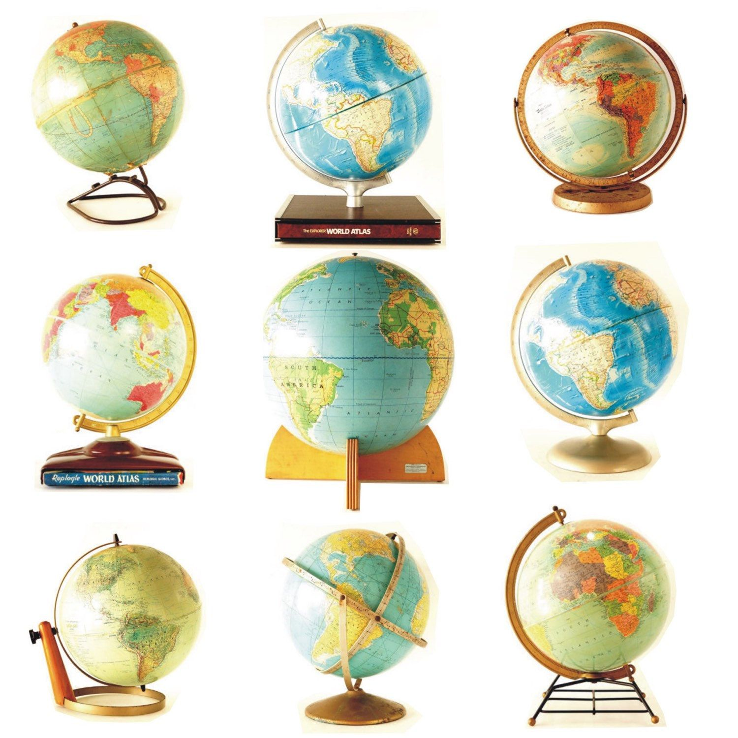The World is Your Oyster...  Go explore!  Use a vintage globe to plan your adventure.