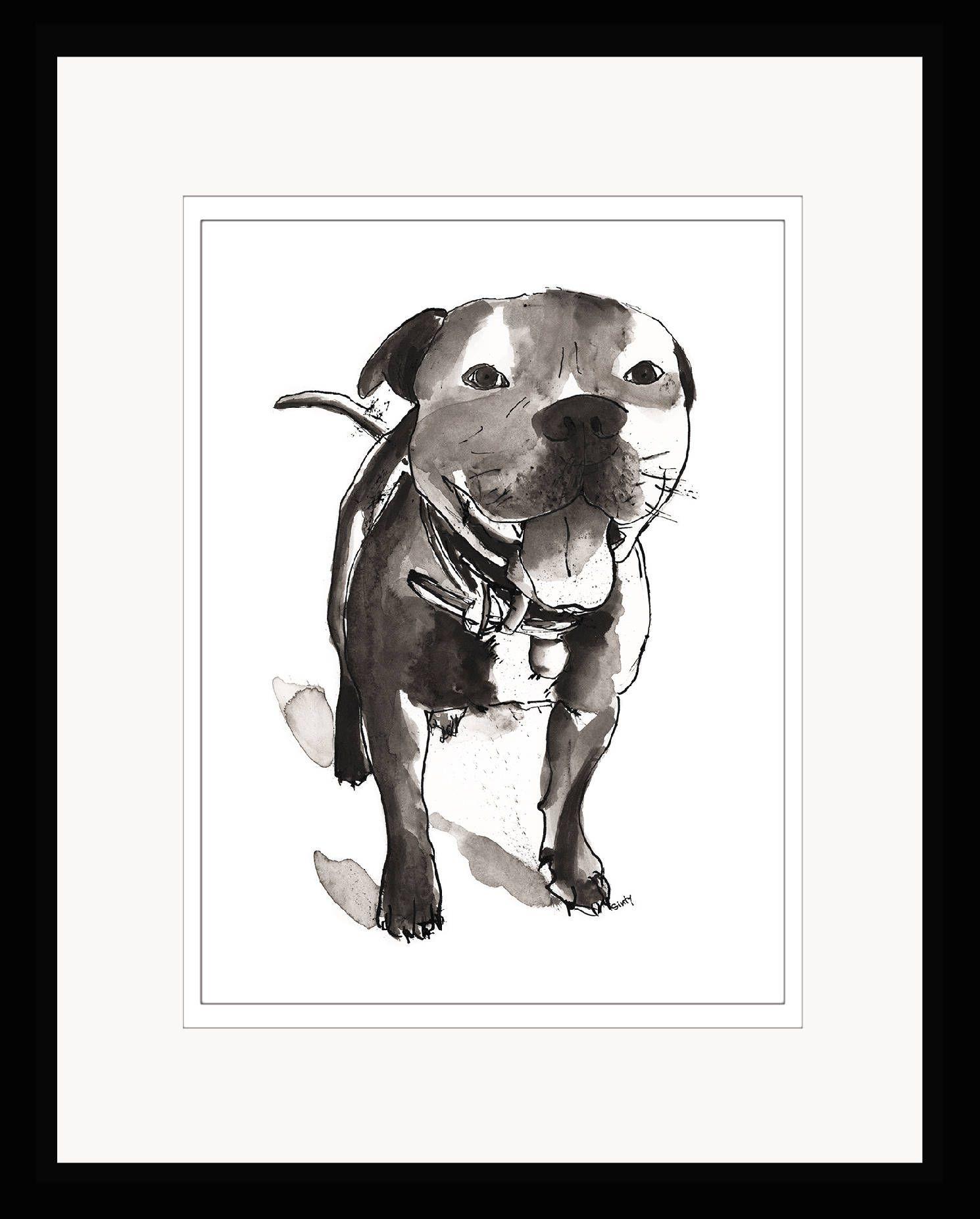 Staffordshire Bull Terrier Digital Print Download Staffy Dog Printable Art By Sintyartshop On Etsy Staffy Dog Digital Prints Funky Art