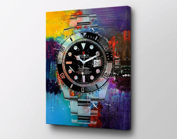 556d1f834 Rolex Submariner Canvas Wall Art - King Of Time original design by Epik -  Ready to Hang High Quality