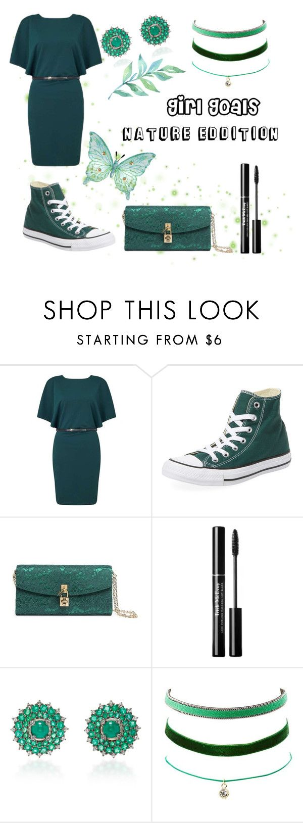 """""""Girl Goals"""" by starcrashing on Polyvore featuring Miss Selfridge, Converse, Dolce&Gabbana, Nam Cho and Charlotte Russe"""