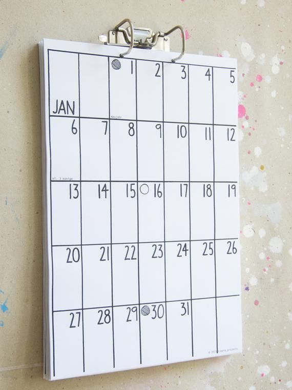 Wandkalender 2020 / 2021 in 2020 | Calendar, Make your own ...