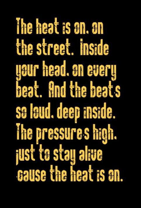 Glenn Frey - The Heat Is On - song lyrics, music lyrics, song ...