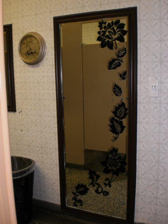 DIY Stenciled Mirror Dollarama