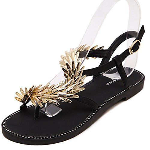 Voberry Womens Fashion Pretty Metal Buckle Open Toe Dress Sandals 7RUEUCN38 Gold * Read more  at the image link. (This is an Amazon affiliate link and I receive a commission for the sales and I receive a commission for the sales)