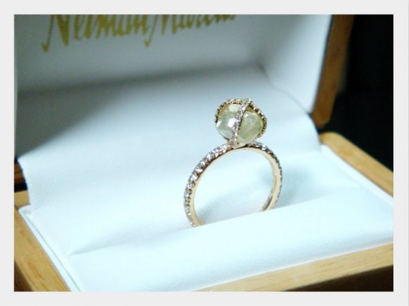 Uncut Diamond In A Ring Found On Weddingbee Share Your
