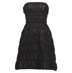 ALAIA Black Strapless Dress