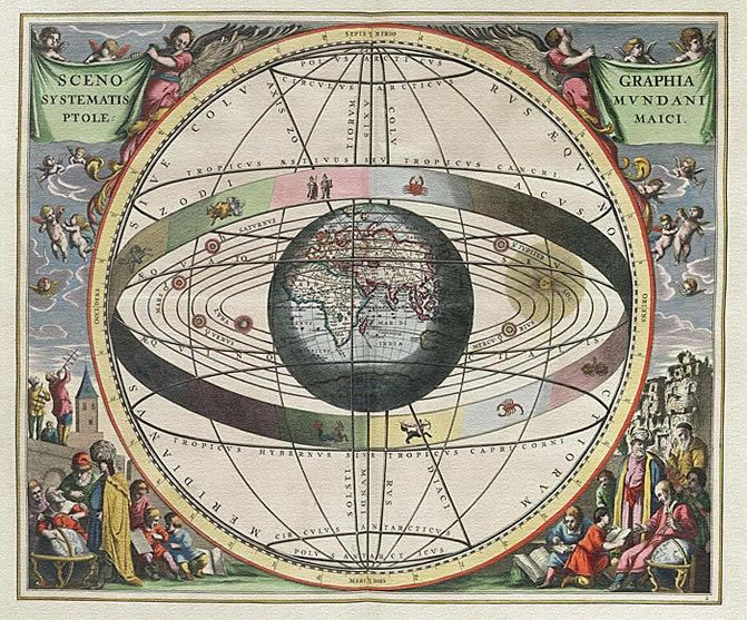 Illustrated ancient star map