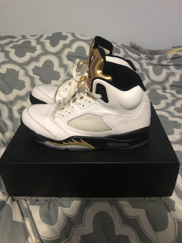 promo code 9abc0 be1ae Air Jordan 5 Retro Olympic Gold Size 9.5 #fashion #clothing ...
