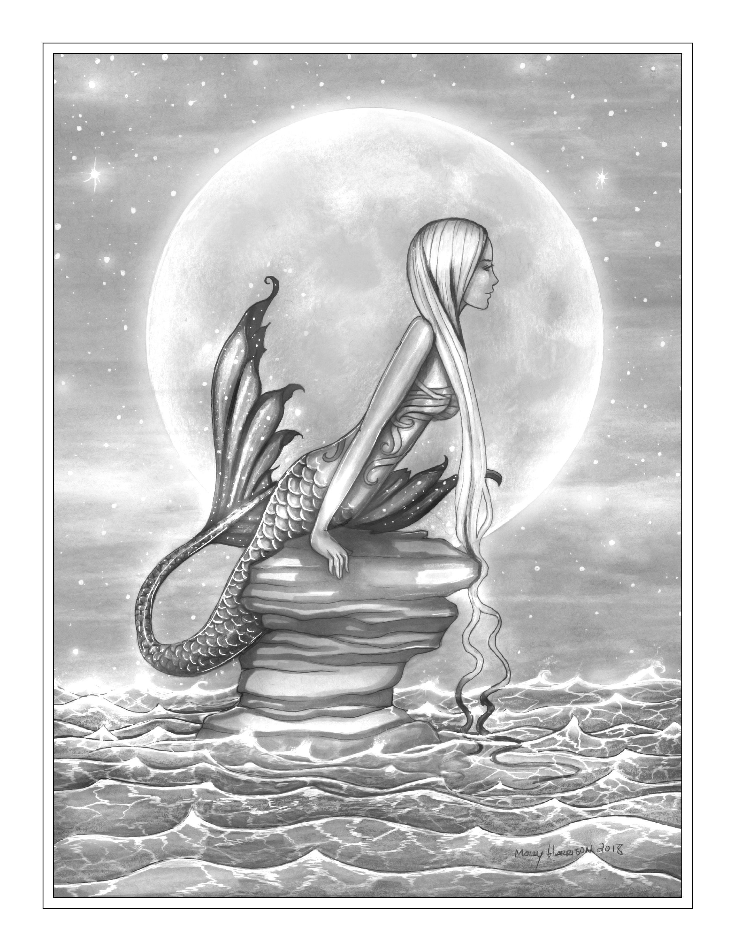 Pin By Jane Holt On Coloring Pages Mermaid Coloring Pages Fairy Coloring Pages Enchanted Forest Coloring [ 3300 x 2550 Pixel ]
