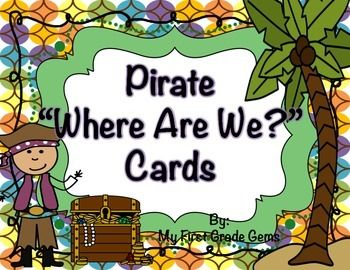 """Pirate """"Where Are We?"""" Cards"""