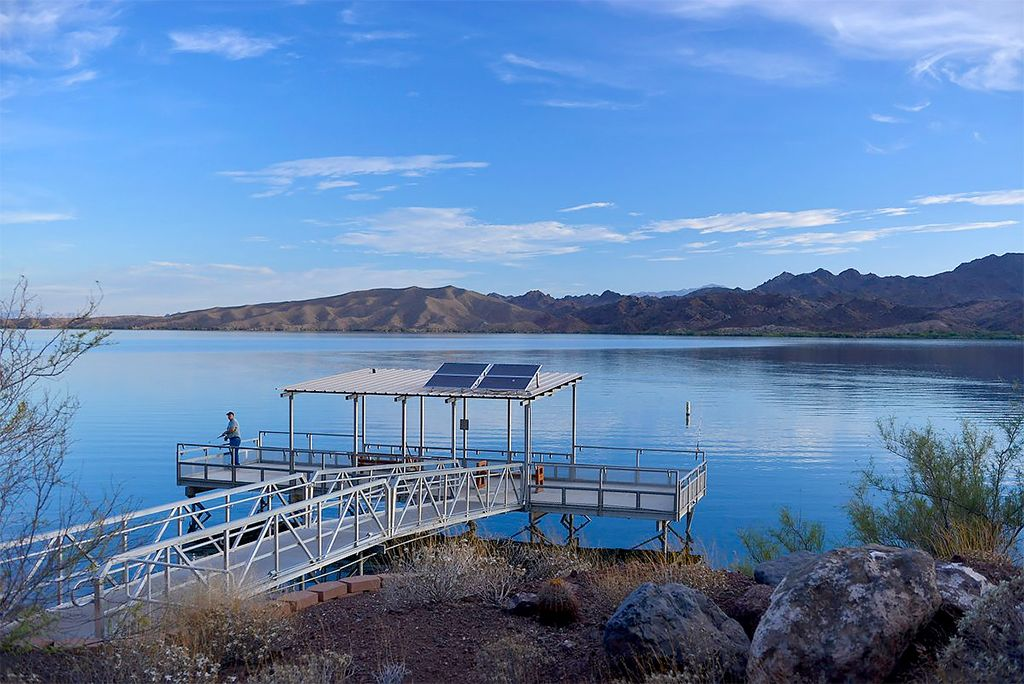 Fishing dock on lake havasu arizona bill williams