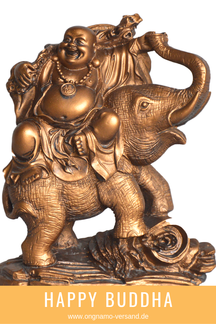 Happy Buddha Auf Elefant Statue 16 Cm Gross Buddha Buddha Meditation Statue