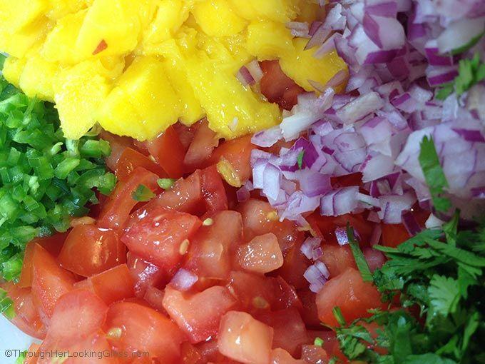 Garden Fresh Mango Salsa Recipe Mango Salsa Salsa Stuffed Peppers