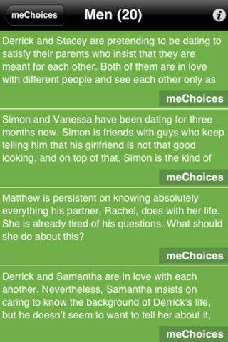 dating scenarios questions
