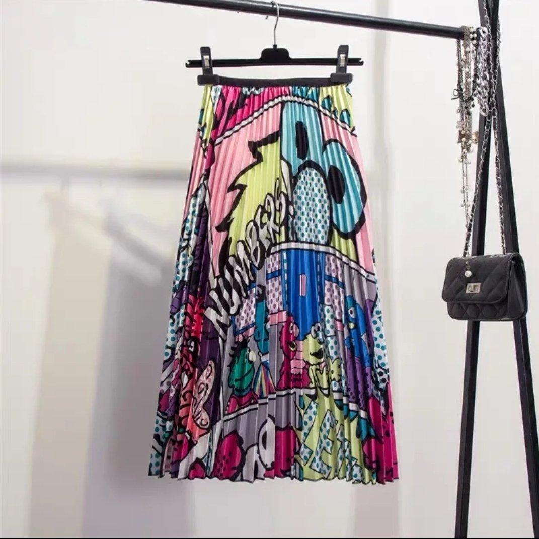 7022c856beeaa Elmo Numbers Pleated Midi Skirt in 2019 | My Style | Pleated midi ...