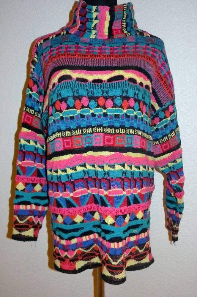 Vintage M Medium Sweater by Leoniak Cosby Coogi Style