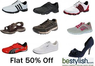Flat 50% OFF Sale live on Nike, Woodlands, Fermani, Adidas, Puma