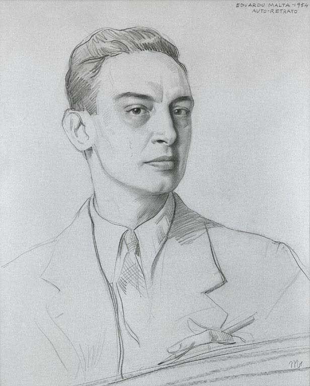 Auto-Retrato. 1954 by Eduardo Malta (1900 – 1967, Portuguese)