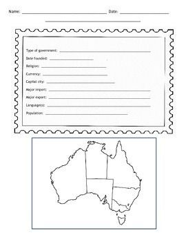 country report template middle school new free stuff big6 ...