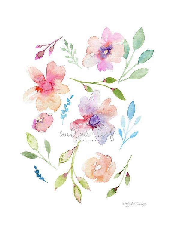 Floral Print Flower Print Wall Art Wall Print Easter Loose
