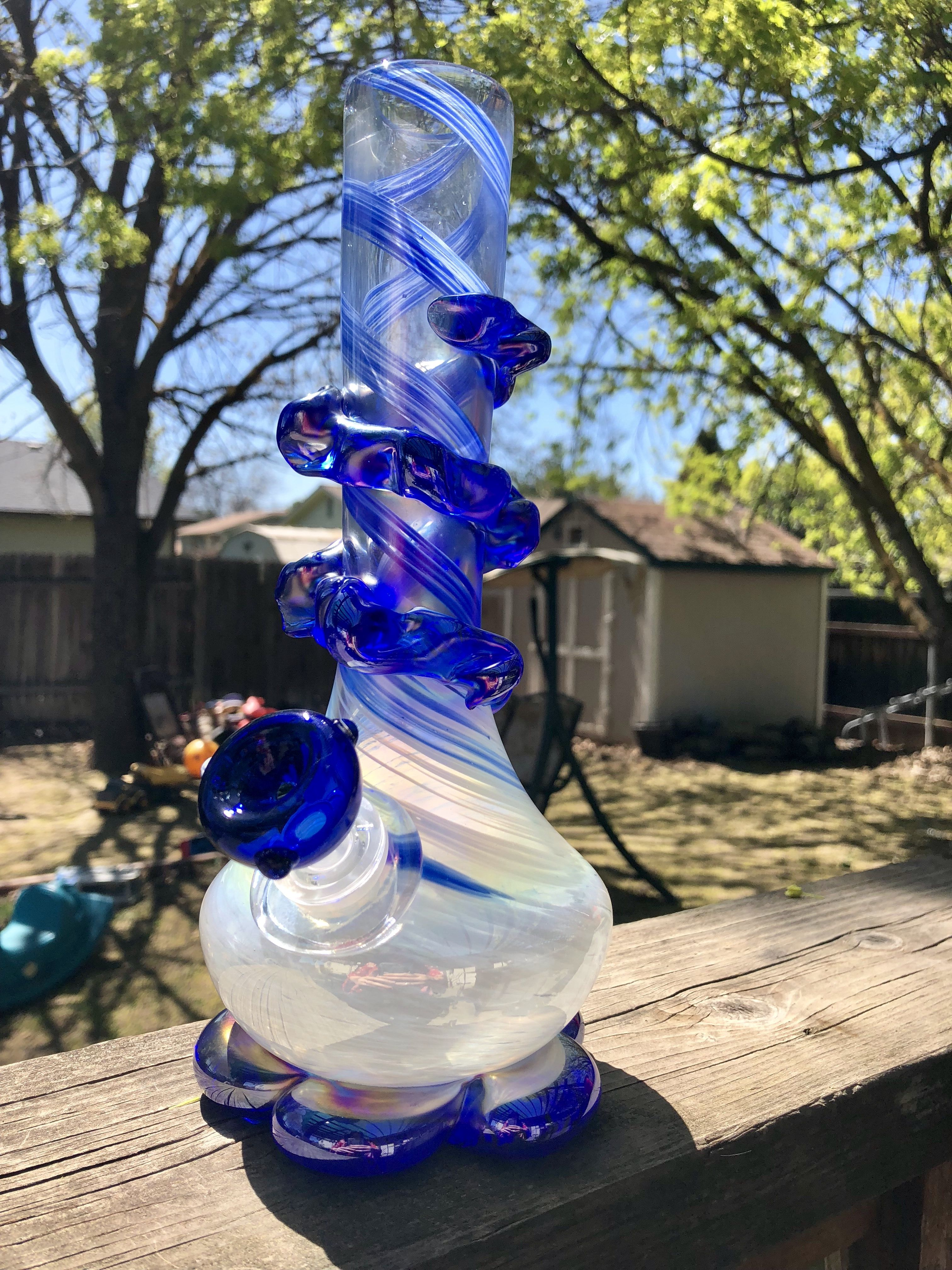 Early birthday gift for him beautiful blue bong