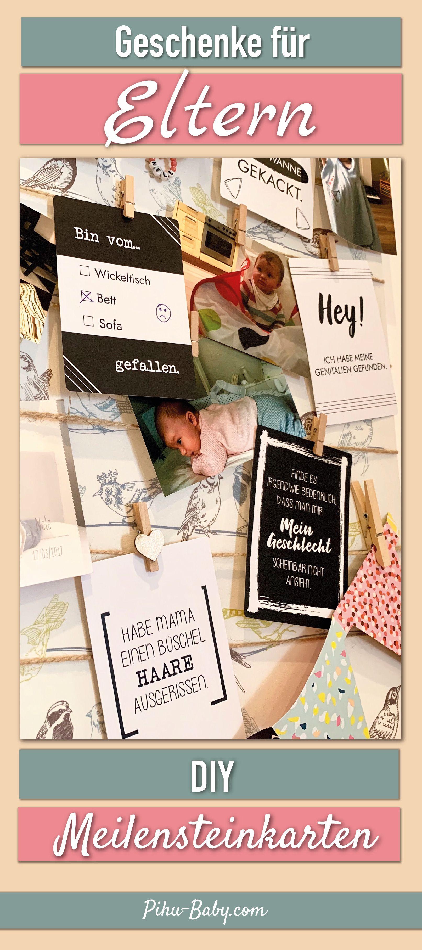 Geschenke für Eltern – DIY Meilensteinkarten