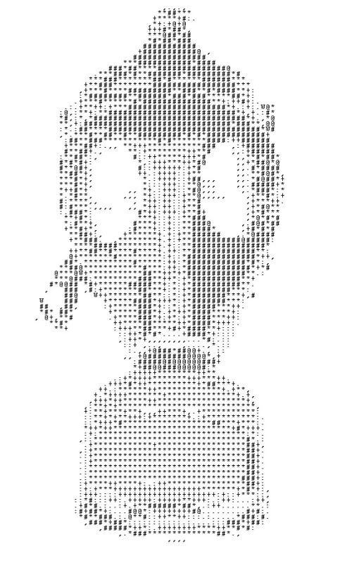 One Line Ascii Art Shark : Ascii gas mask images of space and fantasy pinterest