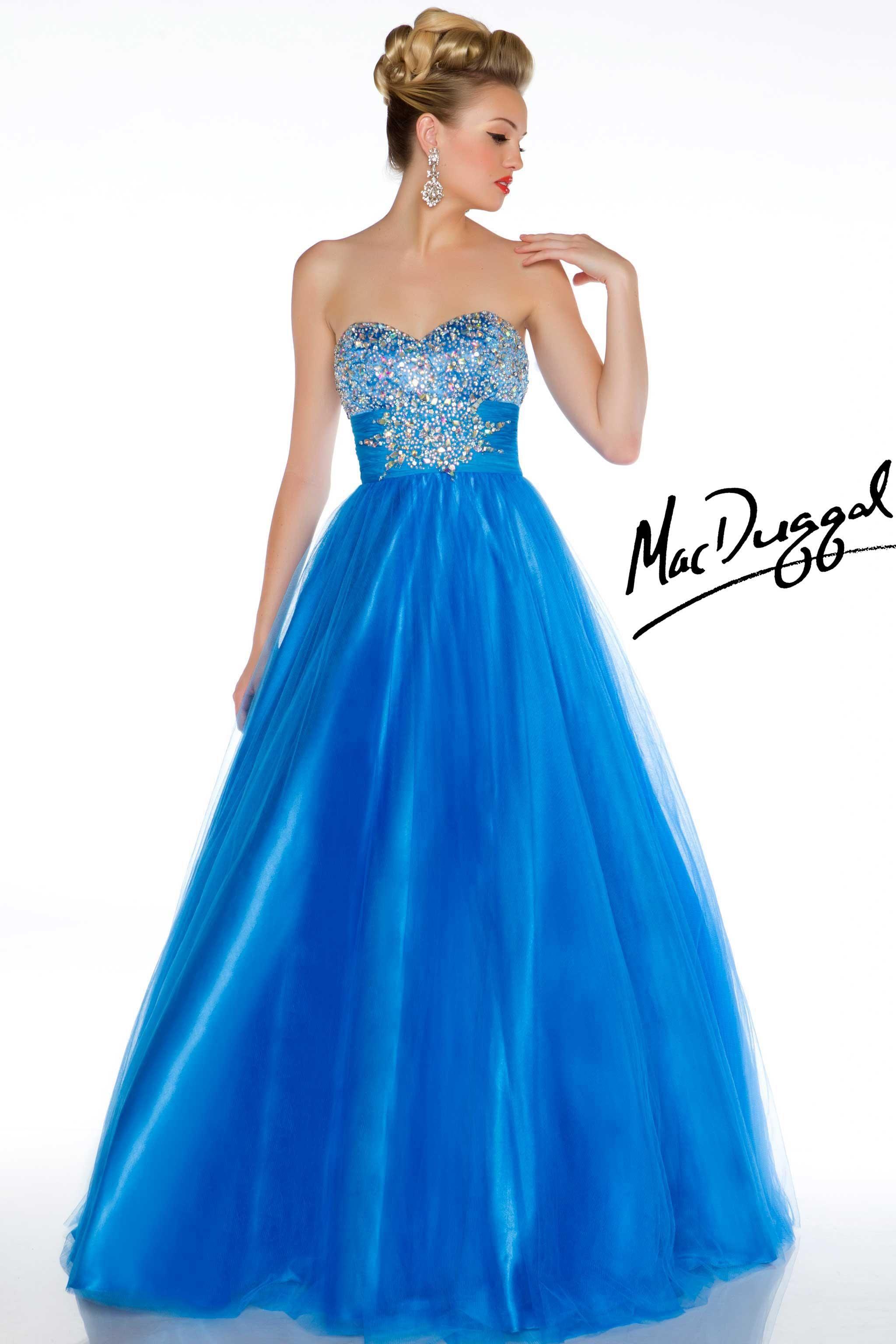 Fresh blue ball gown mac duggal h fancy attireuc pinterest