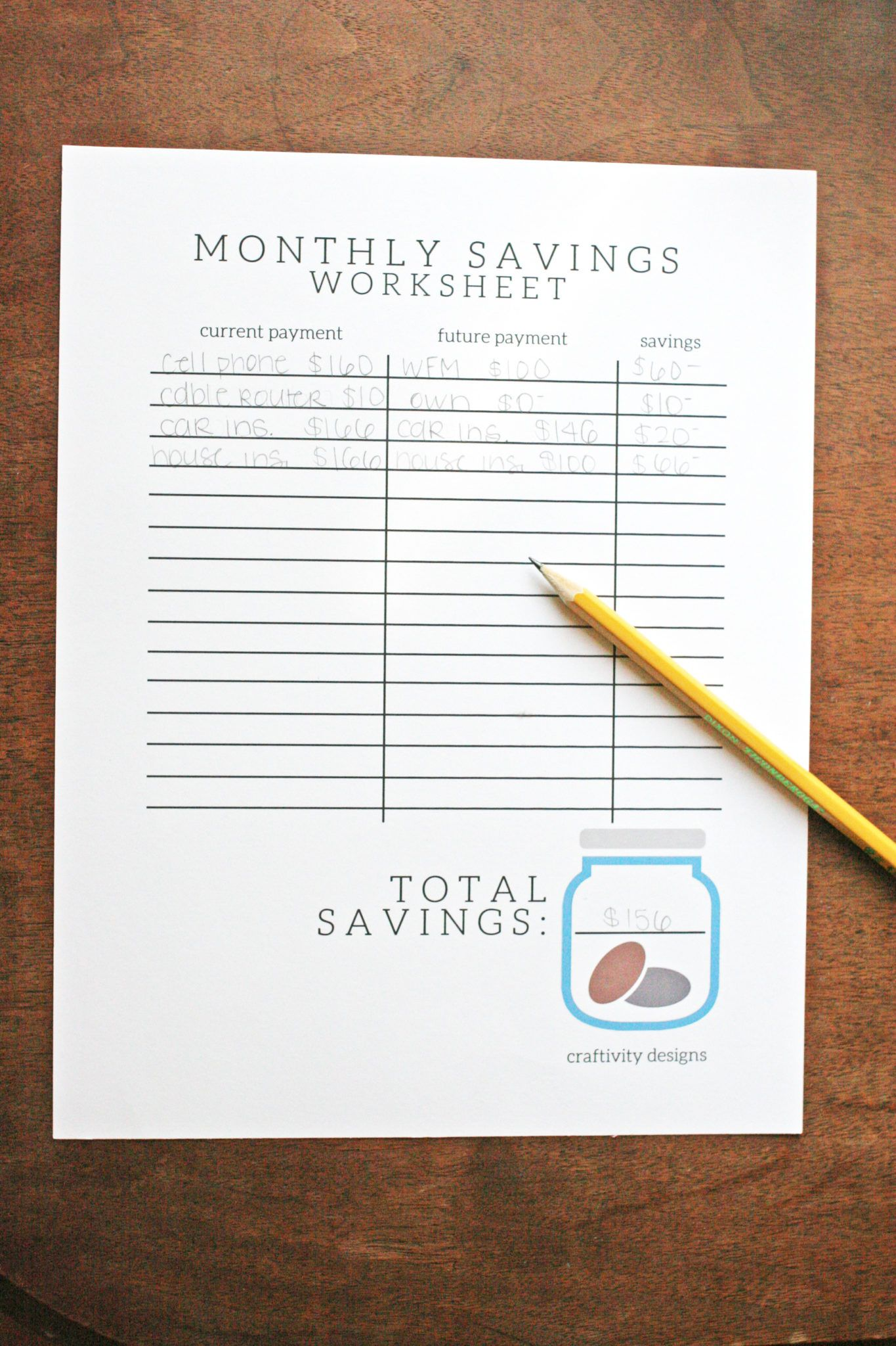 Organize Your Finances With A Free Savings Tracker