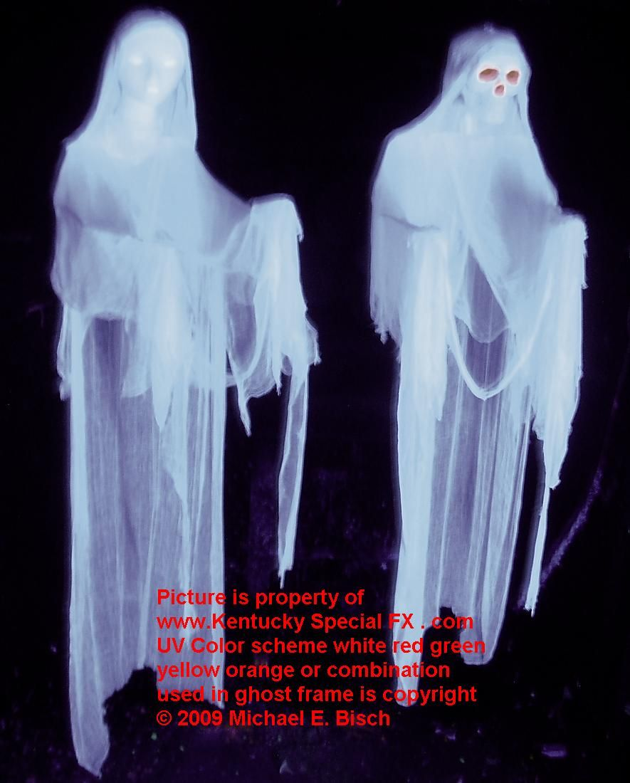 real white hanging halloween ghost decoration prop | halloween