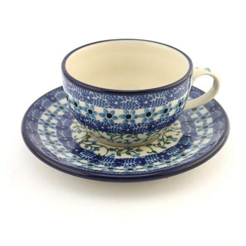 Mug - Polish pottery - This beautiful hand decorated ceramic cup can be used in dishwasher, microwave and oven every day. - Tento krásný keramický hrnek se stane ozdobou každého stolu. Každý kus je vhodný pro denní používání v myčkách, mikrovlnných i pečících troubách. Každý jednotlivý výrobek je odekorován ručně pod glazuru zkušenou umělkyní. Proto je každý náš výrobek originál.