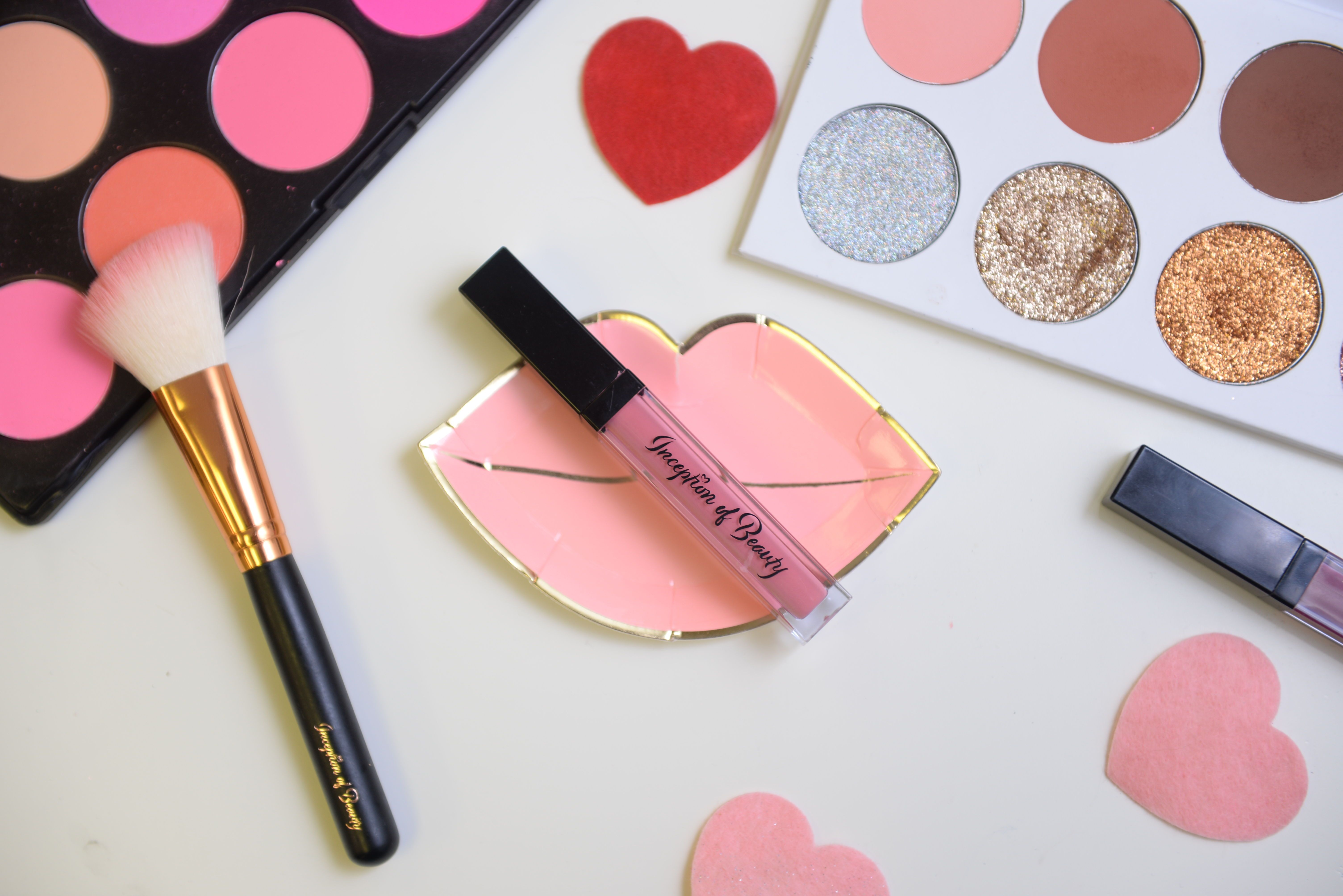 Lipstick, blush palette // Inception of Beauty (With