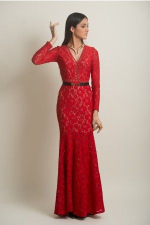 Vestidos corte sirena color rojo