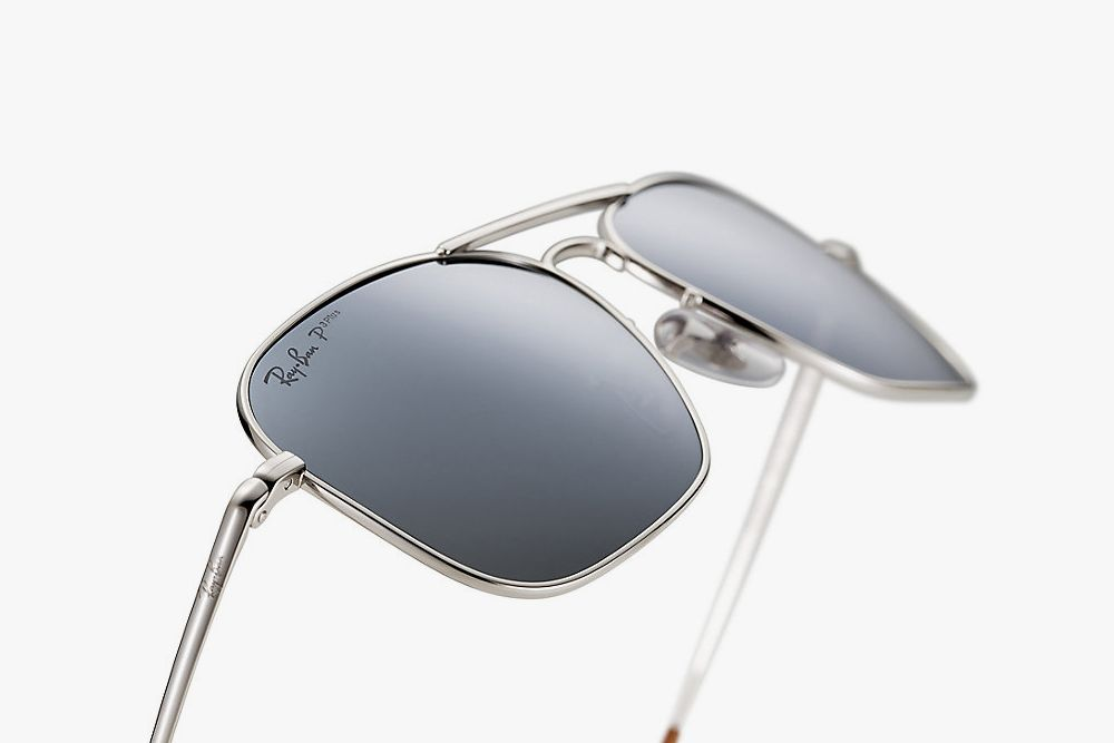f68b1d03a0 Ray-Ban Caravan in titanium plated with white 18K Gold #Ray #Bans (Ray Bans)