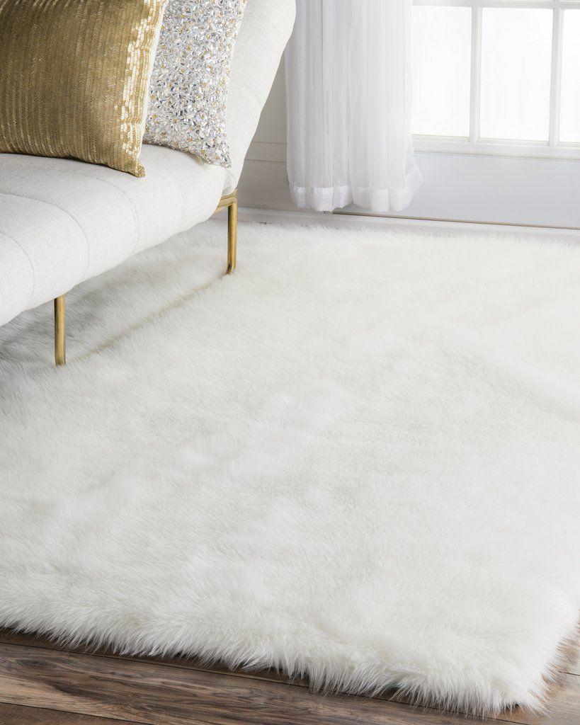 Sea Foam Faux Sheepskin Rug Faux sheepskin rug Living rooms and Room
