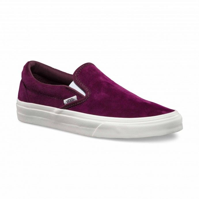 Vans Classic Slip-On Scotchgard Shoes (Scotchgard) fig/blanc de blanc