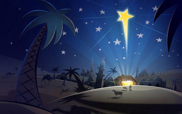 La stella | Con la tribù | Natale cristiano, Sfondo natalizio