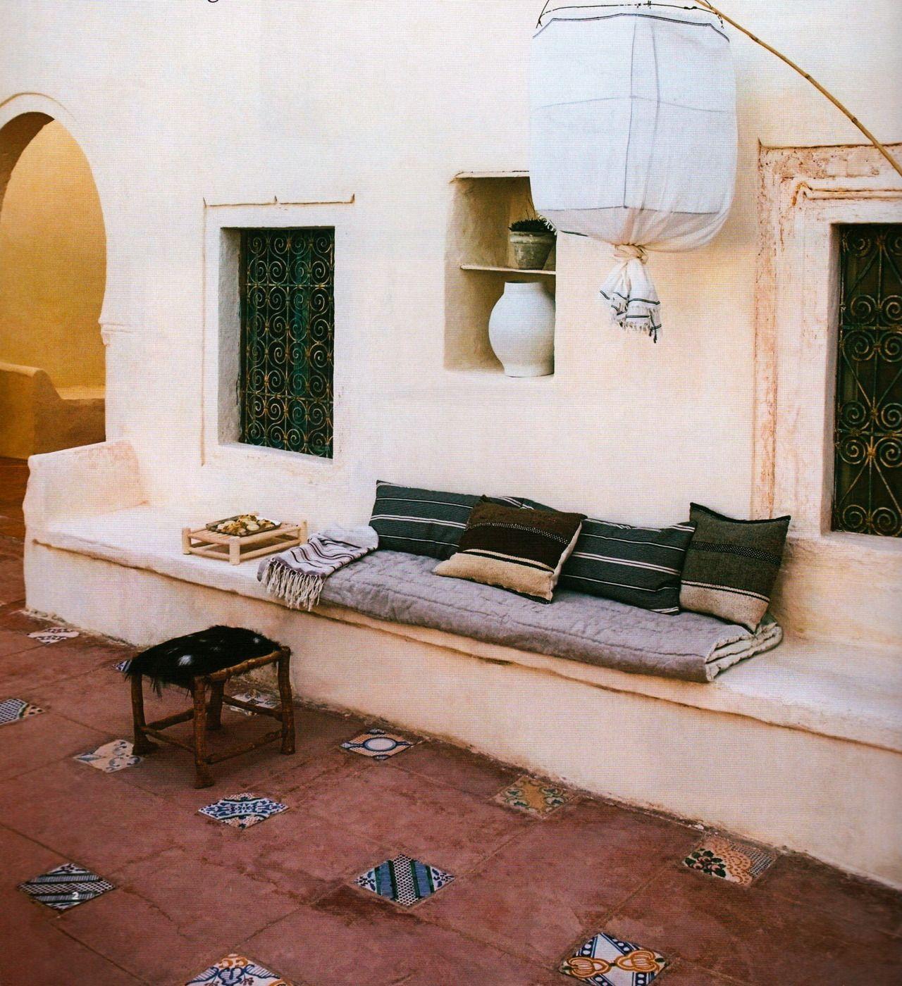 Ideas De Diseño De Jardines Residenciales: Ambiance Marocaine A Riad's Patio (marrakech