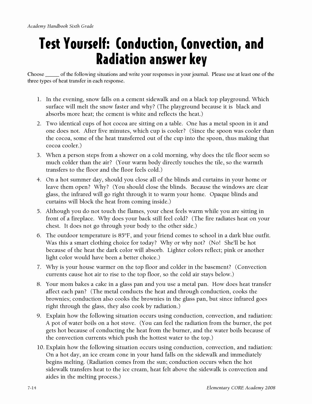 hight resolution of Convection Currents Worksheet Answers   Printable Worksheets and Activities  for Teachers