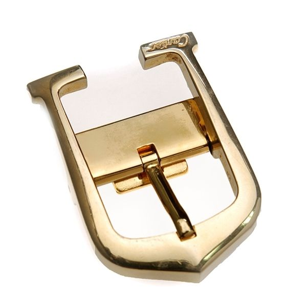 39c9f0b9eeec2 Authentic Cartier gold-tone Elongated C belt buckle. Stamped ...