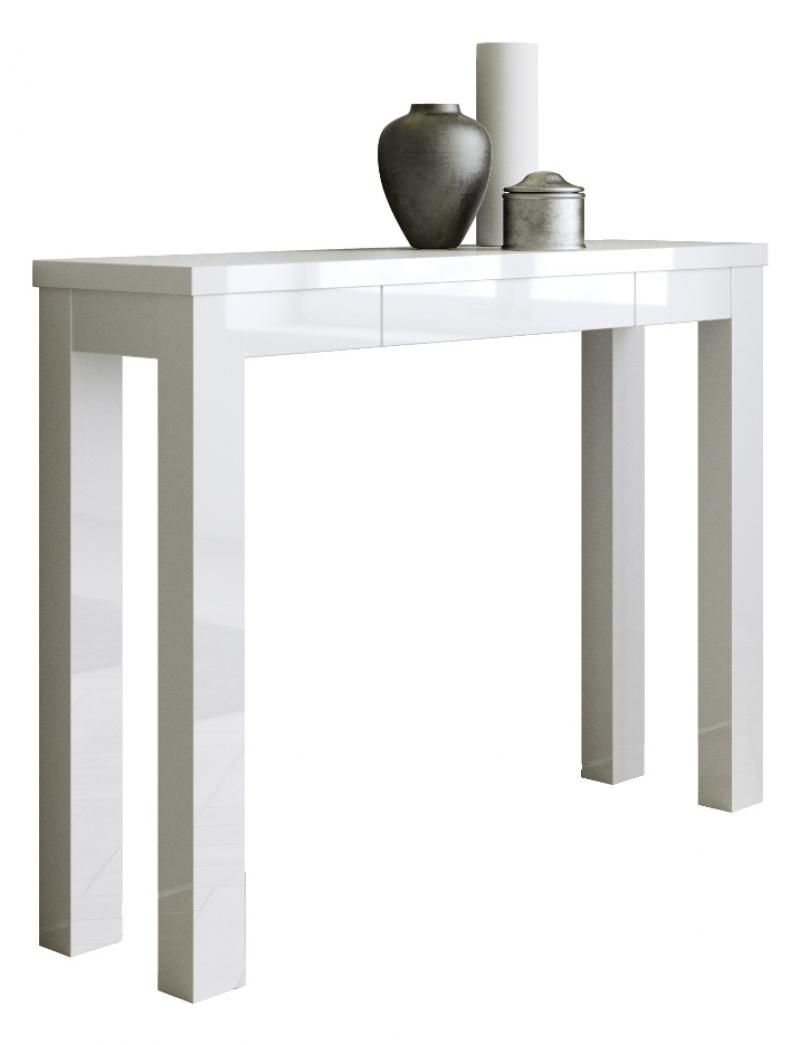 Viva, Modern Console Table In White Gloss Finish