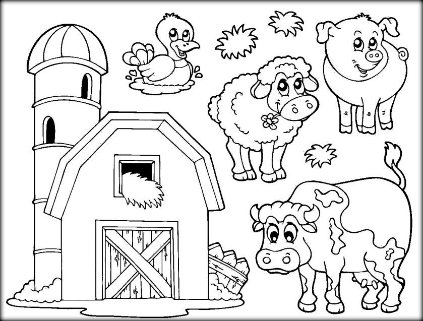 Download Farm Animals Coloring Pages For School Color Zini Farm Animal Coloring Pages Farm Coloring Pages Detailed Coloring Pages