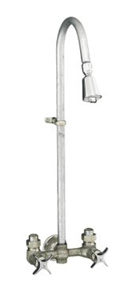 kohler industrial exposed shower faucet with galvanized riser 217