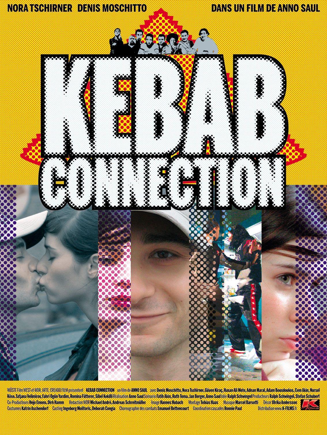 """""""Kebab connection"""" de Anno Saul [SAU] : Ibo, jeune homme d'origine turque, rêve de réaliser le premier film de kung-fu allemand. Pour s'entraîner, il tourne avec sa petite amie Titzi un spot de pub pour le Kebab de son oncle. Devenu la star du quartier, Ibo perd pied lorsque Titzi, tombée enceinte, décide de rompre après une dispute, et lorsque son père le chasse de la maison. Reste l'idée d'un spot de kung-fu..."""
