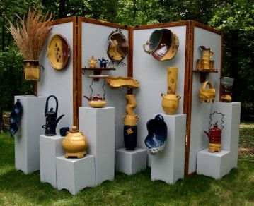Nice Clean Display Good Earth Pottery Display Setups
